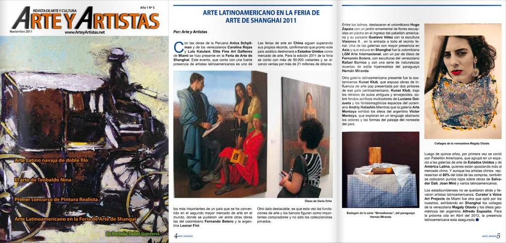 Revista Arte y Artistas Noviembre 2011